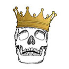 Tattoocrew Includes 2 tattoos: skull King, gold tattoo, temporary tattoo, skull and crossbones, Crown, summer, beach, temporary gold tattoo