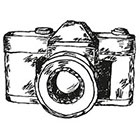Tattoocrew Includes 2 tattoos: temporary tattoo, camera, temporary tattoo, photography, photographer, hand draw, black and white, art, body art