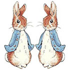 TattooNbeyond Temporary Tattoo - Set of 2 Lovely Peter Rabbit