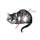WildLifeDream Vintage Chesire Cat - Temporary tattoo in