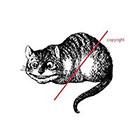 WildLifeDream Vintage Chesire Cat - Temporary tattoo