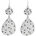 Target Drop Earrings - Silver/Gray