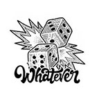 TattooWhatever Dice Temporary Tattoo - Available in 2 sizes, black and white, large size