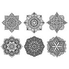 Arrow Tattoo Set of 6 Mandala Boho Tattoo Pattern Tattoo Temporary Tattoo wrist ankle body sticker fake tattoo