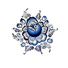 Arrow Tattoo Blue Flowers temporary tattoo Pattern Tattoo Temporary Tattoo wrist ankle body sticker fake tattoo large