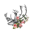 Arrow Tattoo Deer and Roses tattoo Pattern Tattoo Temporary Tattoo wrist ankle body sticker fake tattoo antlers large