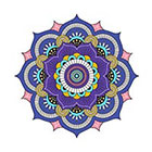 Arrow Tattoo Large Purple Mandala Pattern Tattoo Temporary Tattoo wrist ankle body sticker fake tattoo
