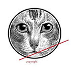 WildLifeDream Vintage cat - temporary tattoo