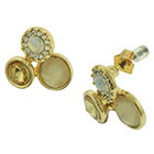 Target Cluster Stud Earring with Stones - Gold/Pink