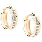 Diamond 14K Yellow Gold Accent Round Hoop Earrings - Yellow