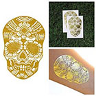 Tattify Gold Floral Skull Temporary Tattoo - All Seeing Flower (Set of 2)