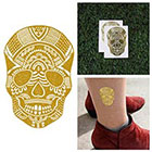 Tattify Metallic Gold Skull Temporary Tattoo - Gold On My Mind (Set of 2)