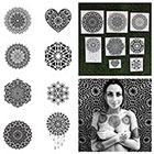 Tattify Intricate Mandala Temporary Tattoo Set - Ascension (Set of 16)