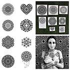 Tattify Intricate Mandala Temporary Tattoo Set - Ascension (Set of 16)