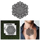 Tattify Intricate Mandala Temporary Tattoo - Trance (Set of 2)