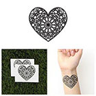 Tattify Heart Mandala Temporary Tattoo - Love (Set of 2)