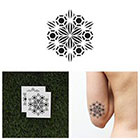 Tattify Simple Geometric Mandala Temporary Tattoo - Star (Set of 2)