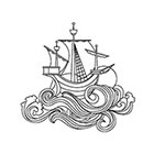 Arrow Tattoo Vintage Ship Temporary Tattoo wrist ankle body sticker fake tattoo ocean sailor
