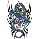 TattooGirlsRule Large Blue Chinese Dragon Temporary Tattoo (#DR808)