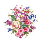 Tattoorary Beautiful colorful vintage floral temporary tattoo in