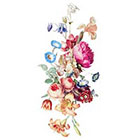 Tattoorary Beautiful large vintage floral temporary tattoo