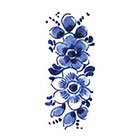 Tattoorary Floral vintage Dutch 'Delfts Blauw' temporary tattoo in