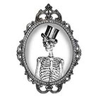 Tattoorary Halloween temporary tattoo with a skeleton with hat