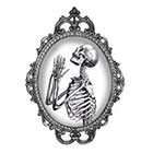 Tattoorary Halloween temporary tattoo with a praying skeleton