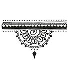 Tattoorary Half mandala temporary tattoo (henna style)