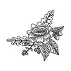 Tattoorary Large vintage floral temporary shoulder tattoo
