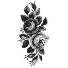 Tattoorary Large vintage roses floral temporary tattoo