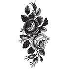 Tattoorary Large vintage roses floral temporary tattoo