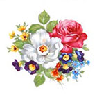 Tattoorary Beautiful colorful vintage floral temporary tattoo