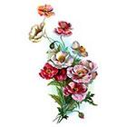 Tattoorary Beautiful large vintage floral temporary tattoo