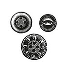 Tattoorary Button temporary tattoo set (3 pieces)