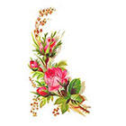 Tattoorary Floral vintage temporary tattoo design