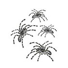 Tattoorary Halloween temporary tattoo spider set (4 pieces)