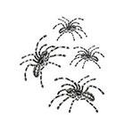 Tattoorary Halloween temporary tattoo spider set (4 pieces)