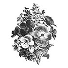 Tattoorary Large floral arrangement temporary tattoo