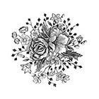 Tattoorary Large vintage floral temporary tattoo