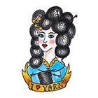 Tattoorary Old school 'I love yarn' temporary tattoo design