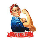 Tattoorary Mother's day temporary tattoo 'Super Mom'
