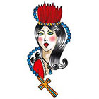 Tattoorary Old school girl temporary tattoo design