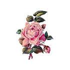 Tattoorary Small rose temporary tattoo
