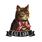 Tattoorary The cat lady temporary tattoo