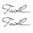 Tattoorary Two temporary faith tattoos