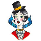 Tattoorary Old school show girl temporary tattoo design