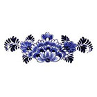 Tattoorary Large floral Dutch 'Delfts Blauw' temporary back tattoo
