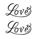 Tattoorary Temporary Love tattoo (2 pieces)