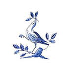 Tattoorary Temporary tattoo vintage 'Delfts Blauw' bird